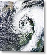 British Isles Storm And Ash Plume, 2011 Metal Print