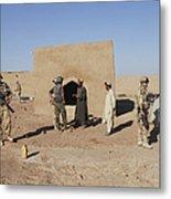 British Soldiers On Foot Patrol Metal Print