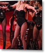 Britney Spears On Stage For The Circus Metal Print