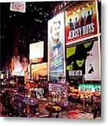 Broadway At Times Square Metal Print
