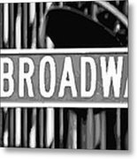 Broadway Sign Color Bw10 Metal Print