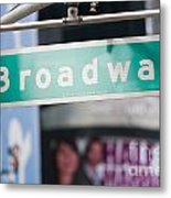 Broadway Street Sign I Metal Print