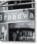 Broadway Street Sign II Metal Print
