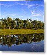 Broemmelsiek Park - Spring Reflections Metal Print by Bill Tiepelman