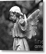 Broken Angel Bw Metal Print