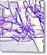 Broken Glass Purple Metal Print
