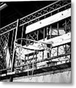 Broken Hoops Metal Print