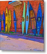 Broken Kayaks  Metal Print