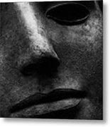 Bronze Mask Metal Print