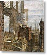 Brooklyn Bridge, 1882 Metal Print