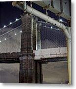 Brooklyn Bridge And A Drain Metal Print