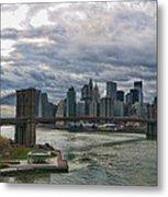 Brooklyn Bridge Carousel Metal Print