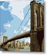 Brooklyn Bridge Color 16 Metal Print