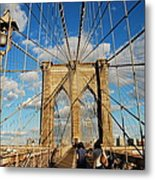 Brooklyn Bridge Summer Metal Print
