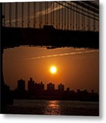 Brooklyn Bridge Sunrise Metal Print