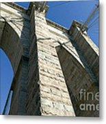 Brooklyn Bridge Tower I Metal Print