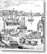 Brooklyn Ferry, C1765 Metal Print