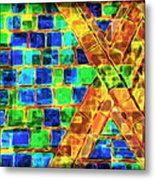 Brooklyn Tile Abstract Metal Print