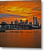 Brooklyn's Twilight V2 Metal Print by Michael Murphy