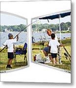 Brothers Fishing - Oof Metal Print