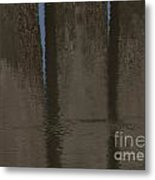 Brown And Blue Reflection Metal Print