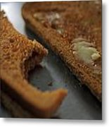Brown Bread With Butter Metal Print