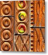Brown Ceramic Tiles Metal Print
