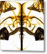 Brown Ink In Water Metal Print