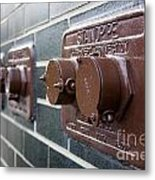 Brown Pipes Metal Print