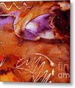 Brown Purple And Bronze  Metal Print