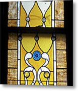 Brown Stained Glass Window Metal Print