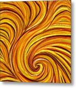 Brown Swirl Metal Print