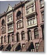Brownstone Apartments Under Renovation Metal Print