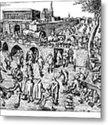 Bruegel: Ice Skaters Metal Print