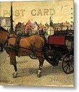 Brugge Carriage Metal Print