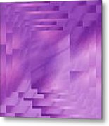 Brushed Purple Violet 8 Metal Print