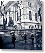 Bryant Park Umbrella Runway Metal Print