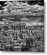 Bryce Canyon - Black And White Metal Print
