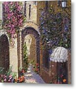 Bubble Awning Metal Print