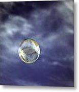 Bubble Self Portrait Metal Print
