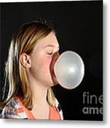 Bubblegum Bubble 2 Of 6 Metal Print