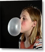 Bubblegum Bubble 3 Of 6 Metal Print