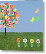 Bubblegum Tree Metal Print
