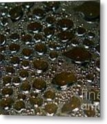 Bubbles Of Steam Black Metal Print