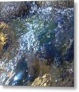 Bubbling Water Metal Print
