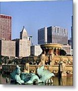 Buckingham Fountain - 4 Metal Print