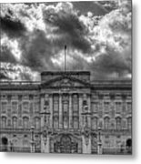 Buckingham Palace Bw Metal Print