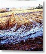 Bucks County Late Winter Fields Metal Print