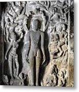 Buddha At Elora Caves India Metal Print