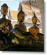Buddha Figures Metal Print
